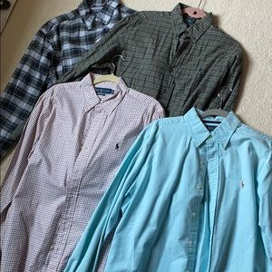 Four Ralph Lauren shirts